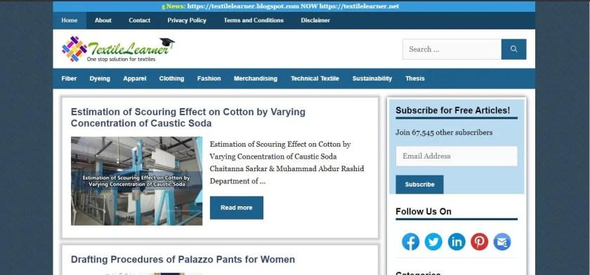 Best Textile Website: Textile Learner