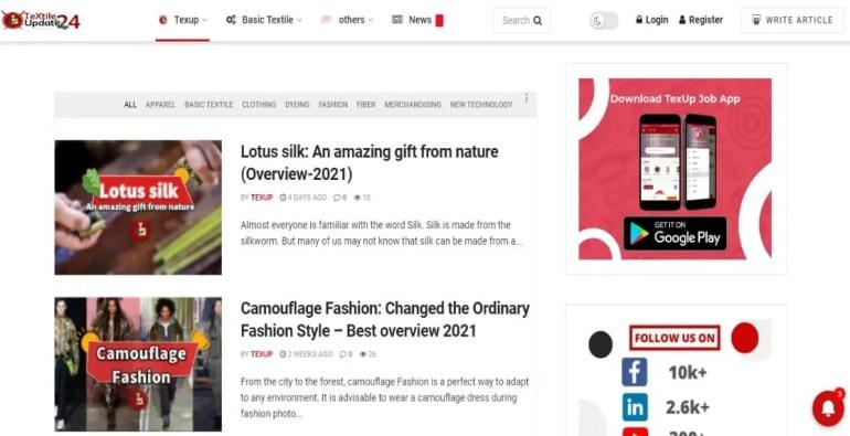 Textile Update 24 Best Textile Websites