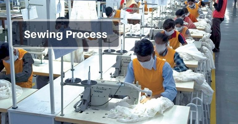 Sewing Process in garments