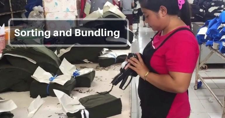 Sorting and Bundling in garments