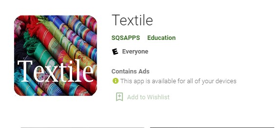 Textile mobile apps