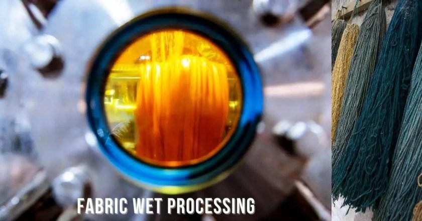 Fabric wet processing process
