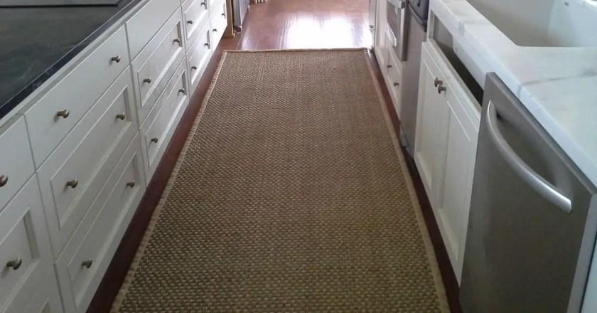 Sea Grass Rug in Kitchen