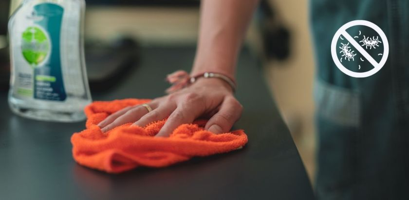 Using Linen Cloth as antibacterial dish washing Pad