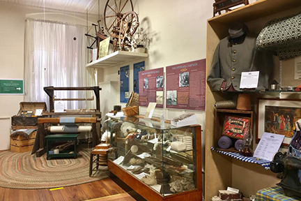 Textile heritage museum exhibit photo