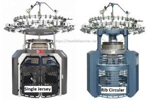 compare single jersey and rib circular