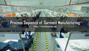 Sequence of Garment Manufacturing