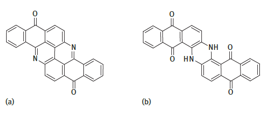 Characteristic structures of vat dyes