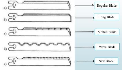 straight knife cutting machine blades