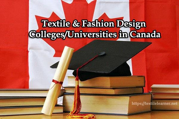textile colleges universities in Canada