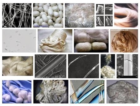 Different types of silk