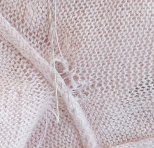 Hole in knitted fabric