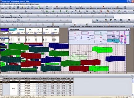 Marker making using Optitex Pattern Design software