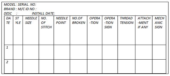 sewing machine schedule