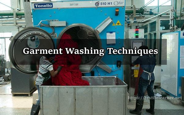 garment washing techniques