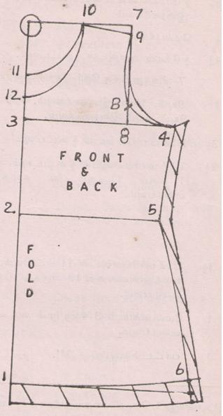 Drafting details of princess petticoat
