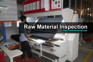 raw material inspection