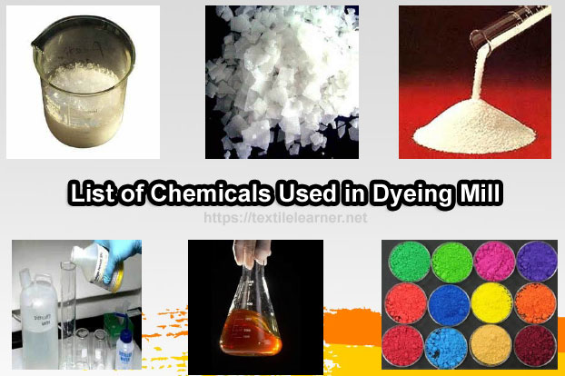 Chemicals Used in Dyeing Mill