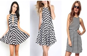 Zigzag line on dress