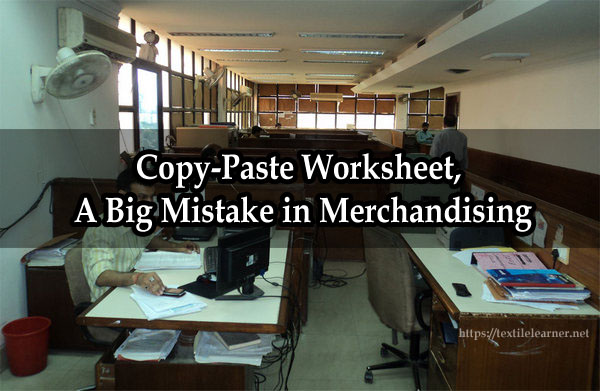 Copy-Paste Worksheet in Merchandising