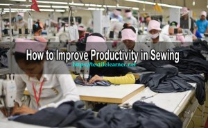 productivity in sewing department
