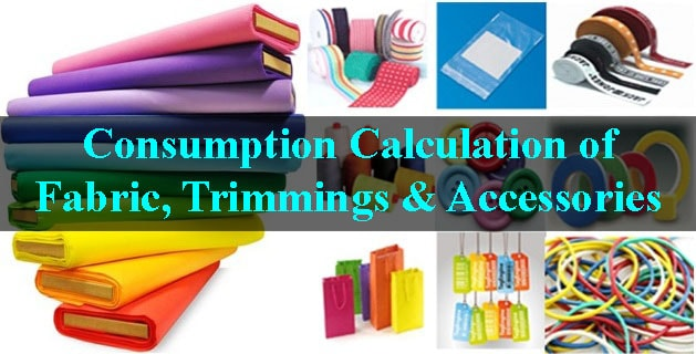 Garment trimmings and accessories calculation