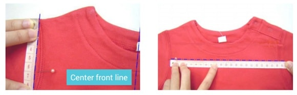 Dimensions and accepted tolerances of garments