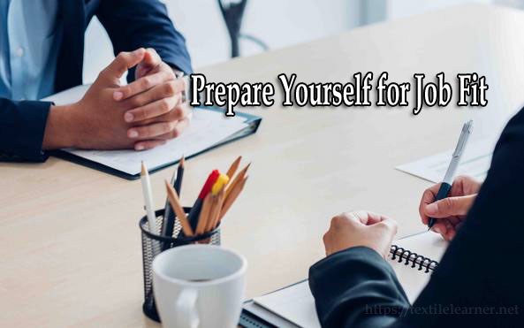 Prepare Yourself for job fit