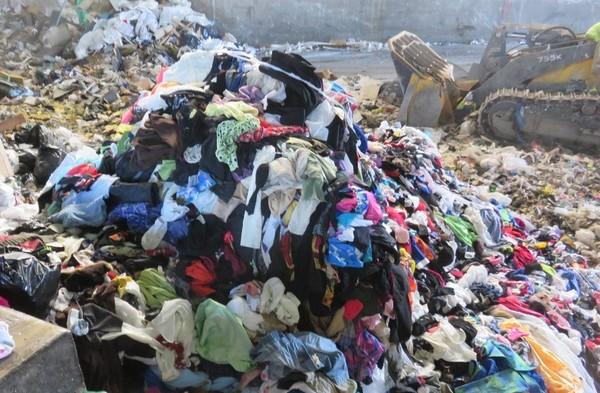 clothing waste reverse of sustainable fashion