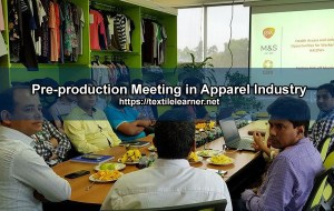 pre-production meeting in apparel industry