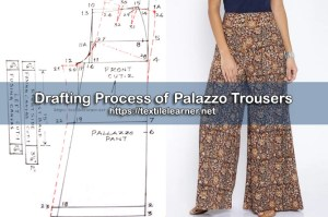 Drafting Process of Palazzo Trousers