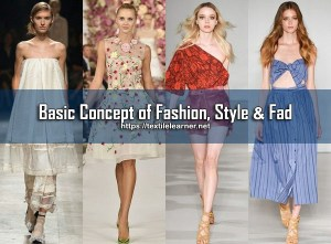 concept of fashion, style and fad
