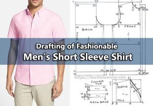 drafting of men's short sleeve shirt