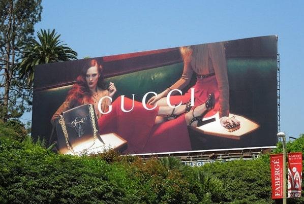 Advertising on billboard