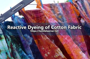 reactive dyeing of cotton