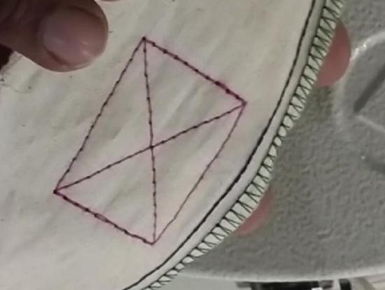 stitch of Velcro Tape Attach Sewing Machine