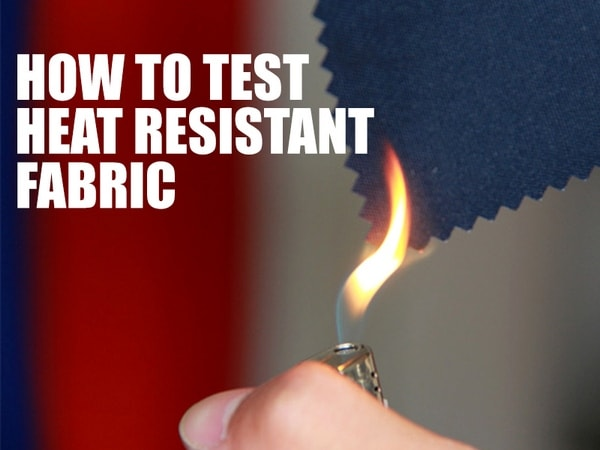 Fire resistant fabric test