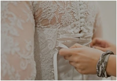 Lace Fabric used in a Wedding dress