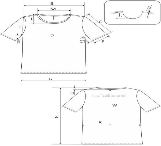 Spec sheet of Short sleeve T-shirt
