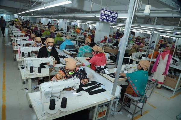 garment sewing line