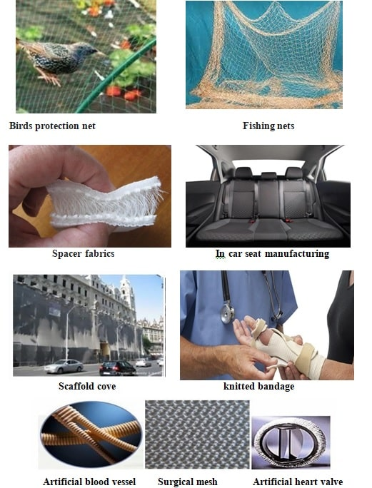 knitted technical textile products