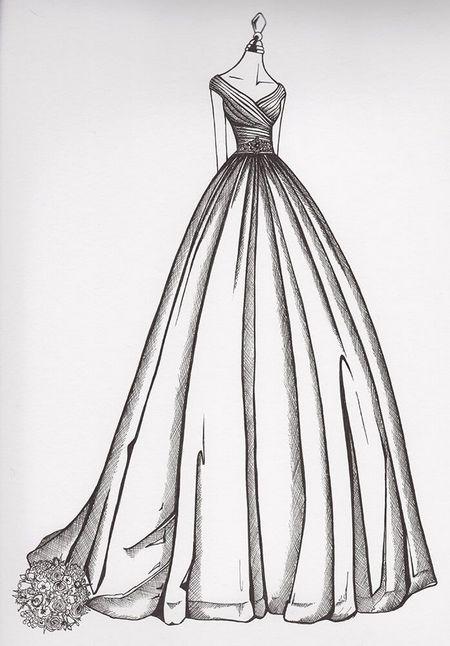 sketch or illustration of garment