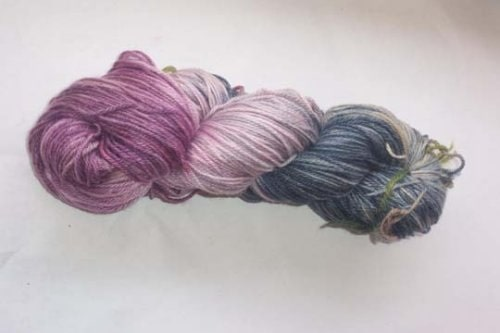 sock yarn dyed with those