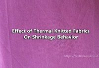 Effect of Thermal Knitted Fabrics (Single Jersey) on Shrinkage Behavior