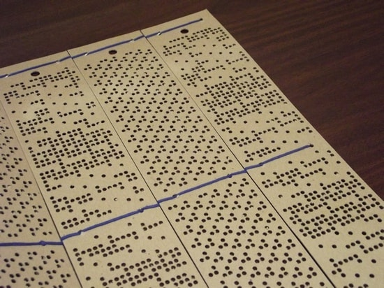 Fully punched pattern card