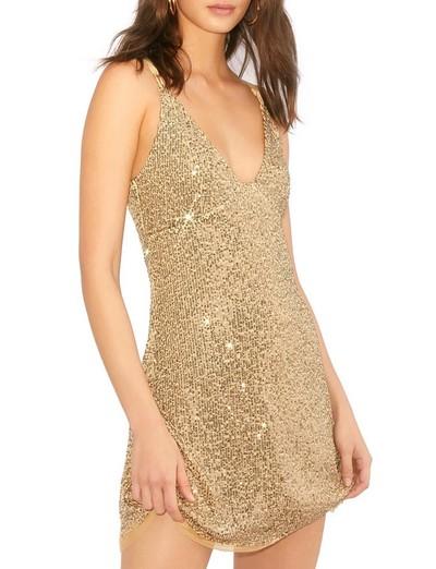 metallic fiber dress