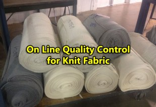 on line quality control of knit fabric