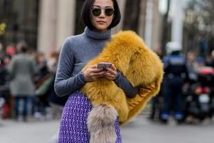 fur fabric dress
