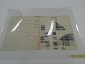 A letter from a West African merchant detailing his current offerings in checks and stripes for the Guinea trade