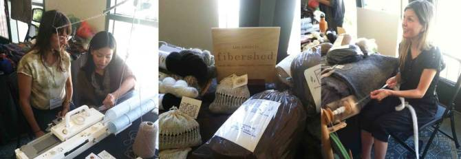 LA Fibershed demonstrations and products at the Symposium Marketplace